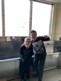 Boys at the drinking station