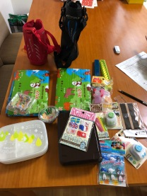 My bento supplies, garnered mostly from the 100 Yen shop